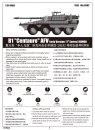 """Trumpeter Plastikový model obrněného vozidla AFV B1 """"Centauro"""" (1. řada) ROMOR"""