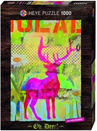 Heye Puzzle - Oh Deer! - The Pink One - 1000 dílků
