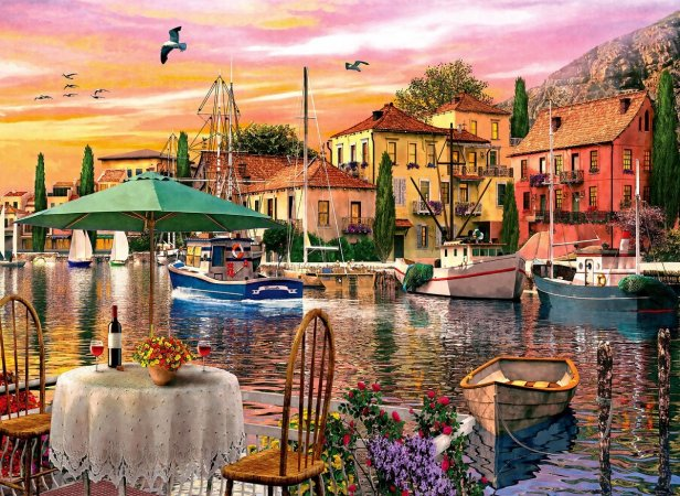 Anatolian Puzzle - Sunset Harbor - 3000 dílků
