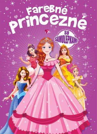 Teddies Farebné princezné so samolepkami - SK verzia