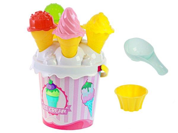 Mikro trading Sada na písek  zmrzlina - 15 ks - růžová