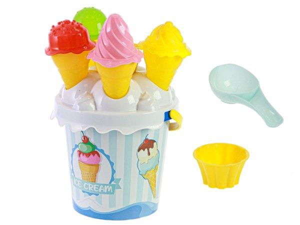 Mikro trading Sada na písek zmrzlina - 15 ks - modrá