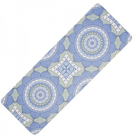 Yate Yoga přírodní guma - vzor B - modrozelená