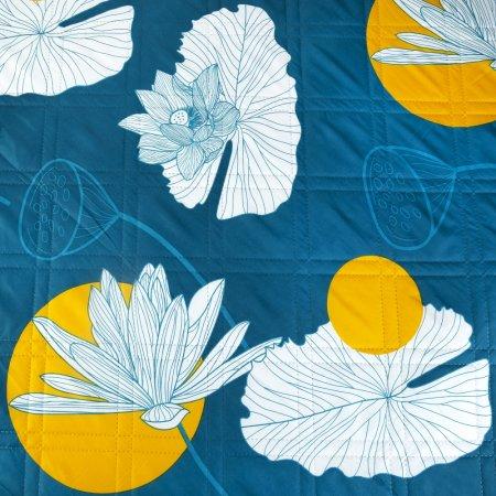 Spokey PICNIC HOOP Pikniková deka kulatá, vzor květiny - průměr 180 cm