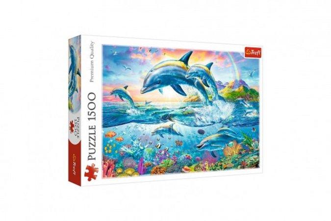 Trefl Puzzle - Rodina delfínů - 1500 dílků