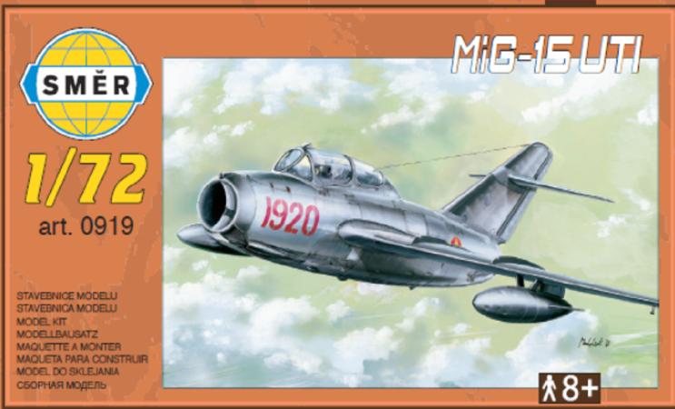 Směr Plastikový model letadla MiG-15 UTI
