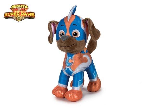 Mikro trading Tlapková patrola - Super Mighty Pups plyšový Zuma - 28 cm