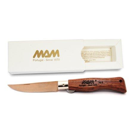 MAM Douro 5000 Bronze Titanium  - Zavírací nůž s pojistkou - bubinga - 7,5 cm