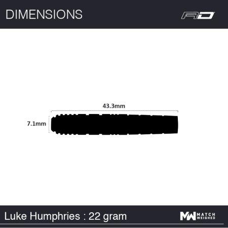 Red Dragon Šipky Steel Luke Humphries - 22g