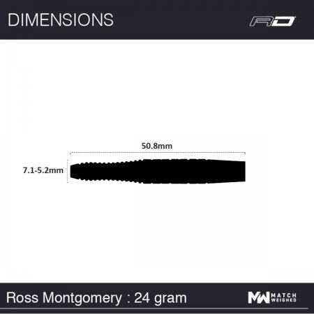 Red Dragon Šipky Steel Ross Montgomery - 24g