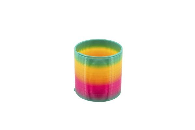 Teddies Spirála/pružina duhová plast - 6,5 cm