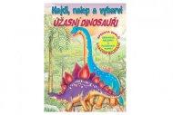 Teddies Pracovní sešit - Najdi, nalep a vybarvi - Úžasní dinosauři - CZ verze