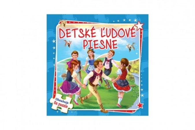 Teddies Puzzle kniha - Detské ľudové piesne - 6 x 9 dielikov - SK verze