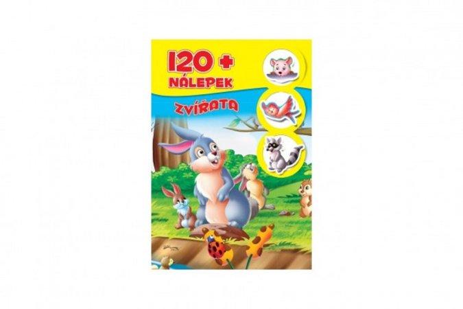 Teddies Knížka se 120 samolepkami 120 - Zvířata - CZ verze