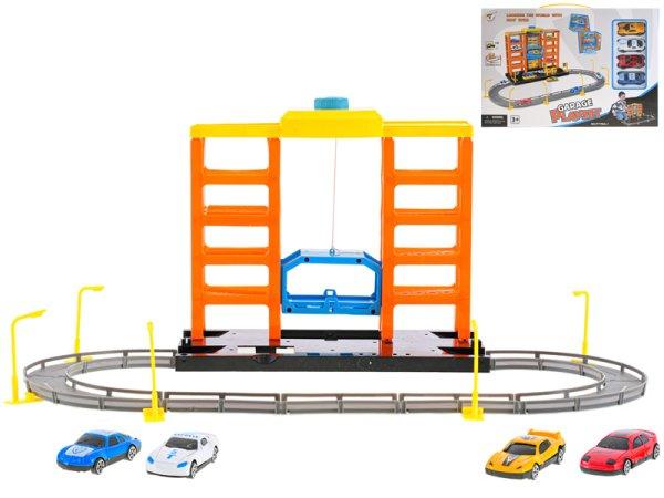 Mikro trading Parkovací garáž s výtahem a auty