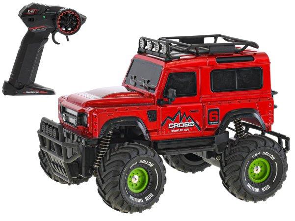 Mikro trading RC auto terénní - 23 cm - červená