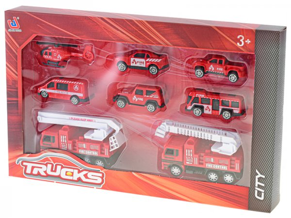 Mikro trading Sada vozidel hasiči - 8 ks