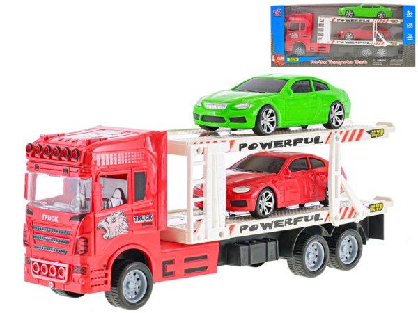 Mikro trading Auto přepravní - 32 cm - červená