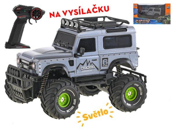 Mikro trading RC auto terénní - 23 cm - šedá
