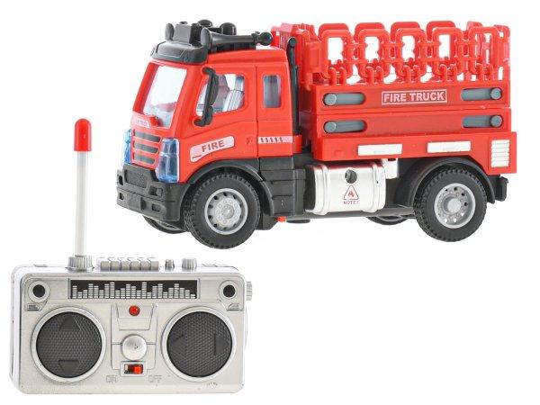 Mikro trading RC auto hasičské s plošinou - 12 cm