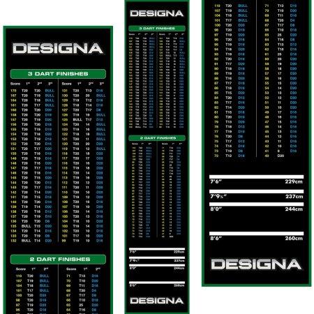 Designa Dart Mat Checkout - Koberec k terči - Green