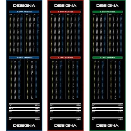 Designa Dart Mat Checkout - Koberec k terči - Wide - Blue