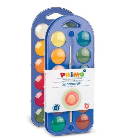 PRIMO Vodové barvy - 24 barev a štětec