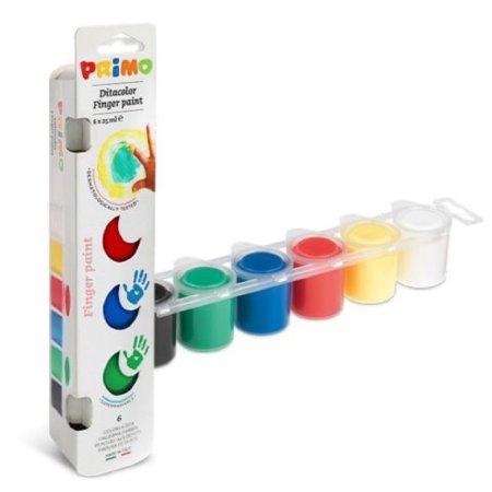 PRIMO Prstové barvy - 6 x 25 ml