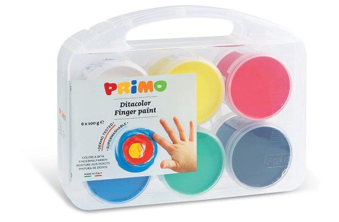 PRIMO Prstové barvy - dárková sada 6 x 100 g