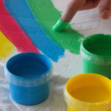 PRIMO Sada prstových barev na textil  - 6 x 100 g