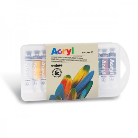 PRIMO Akrylové barvy - tuby - 12 x 7,5 ml