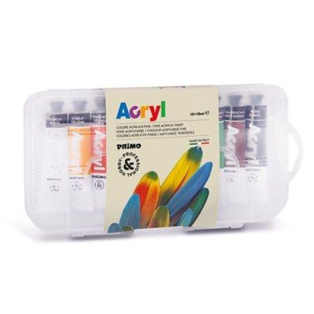 PRIMO Akrylové barvy - tuby - 10 x 18 ml