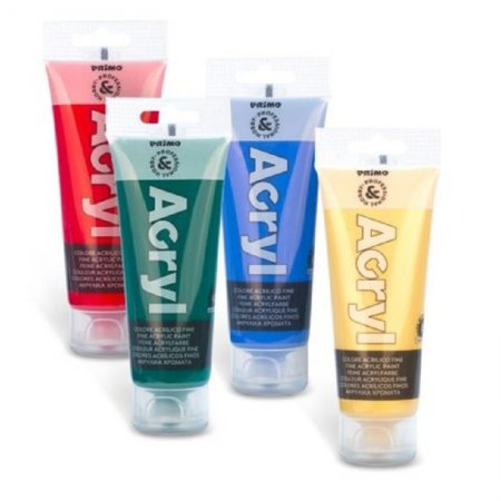 PRIMO Akrylová barva - 75 ml - bílá