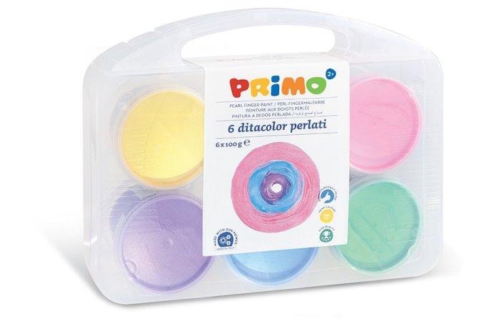 PRIMO Prstové barvy perleťové - 6 x 100 g