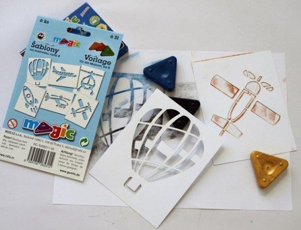 PRIMO MAGIC Papírové šablony - sada B - Vzdušná doprava