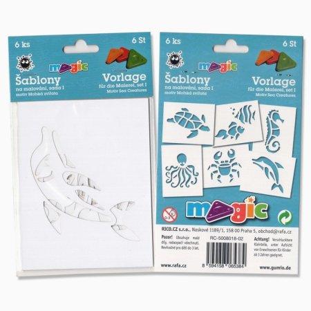 PRIMO MAGIC Papírové šablony - sada I - Mořská zvířata