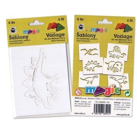 PRIMO MAGIC Papírové šablony sada L - Dinosauři