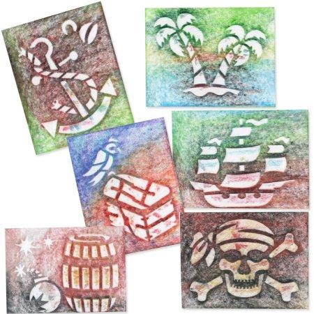 PRIMO MAGIC Papírové šablony - sada O - Piráti