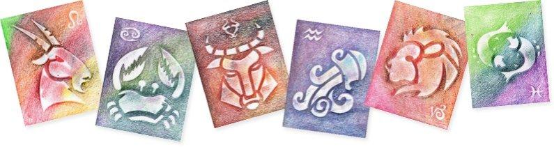 PRIMO MAGIC Papírové šablony - sada P - Znamení zvěrokruhu