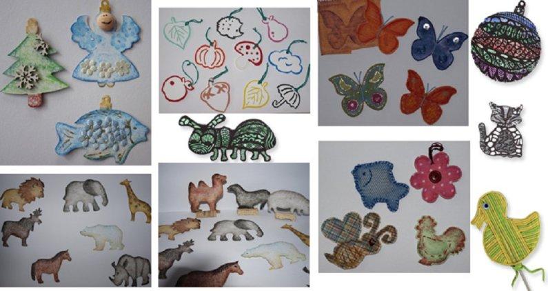 PRIMO MAGIC Výseky na malování - sada 5 - Divoká zvířata