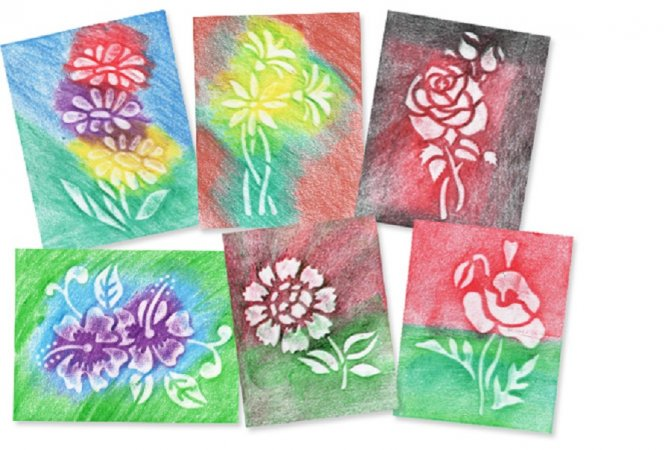 PRIMO MAGIC Papírové šablony - sada S - Květiny II.