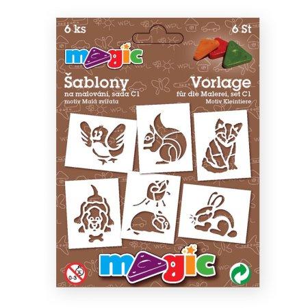 PRIMO MAGIC Papírové šablony - sada C1 - Malá zvířata