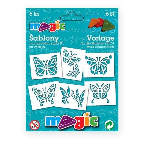 PRIMO MAGIC Papírové šablony - sada D1 - Motýli