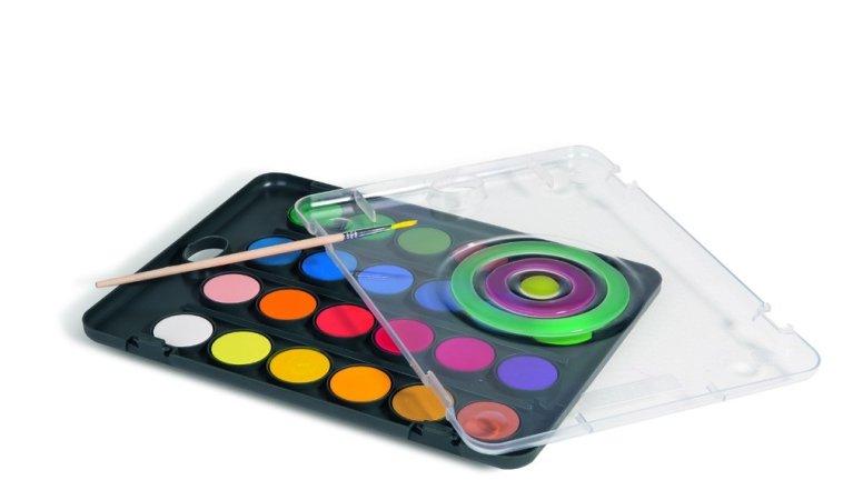 PRIMO BLACK Vodové barvy - 24 barev a štětec