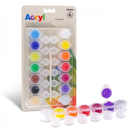 PRIMO Akrylové barvy -  14 x 4,5 ml