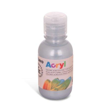 PRIMO Akrylová barva - 125 ml - stříbrná