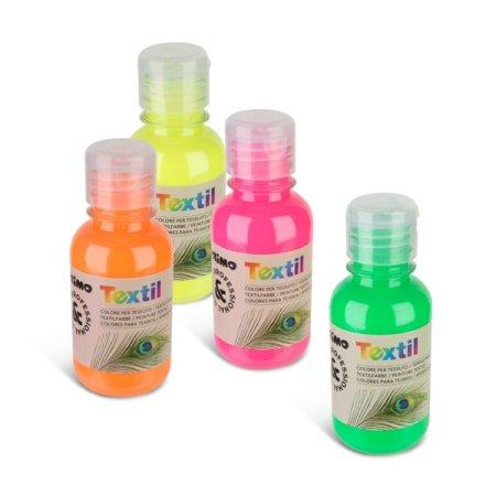 PRIMO FLUO Barva na textil - 125 ml - oranžová