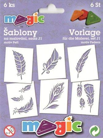 PRIMO MAGIC Papírové šablony - sada J1 - PEŘÍ