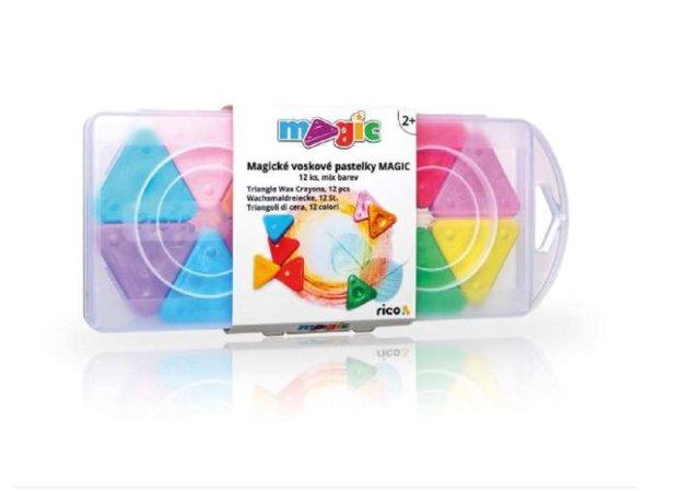 PRIMO MAGIC Voskové pastelky - 12 ks - mix barev
