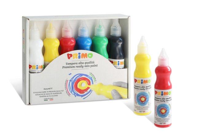 PRIMO Temperové 3D barvy BASIC - sada 6 x 75 ml